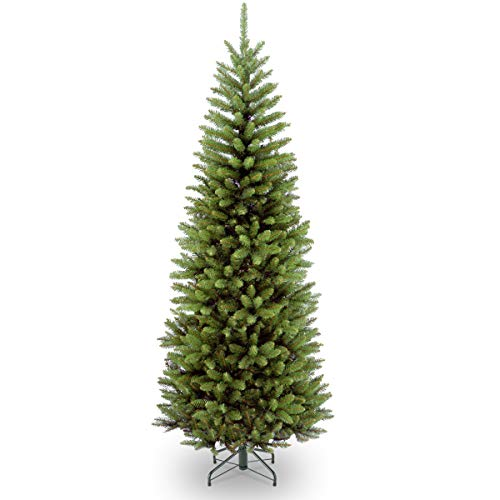 National Tree Company Artificial Christmas Tree Includes Stand Kingswood Fir Pencil, 6.5 ft, GREEN