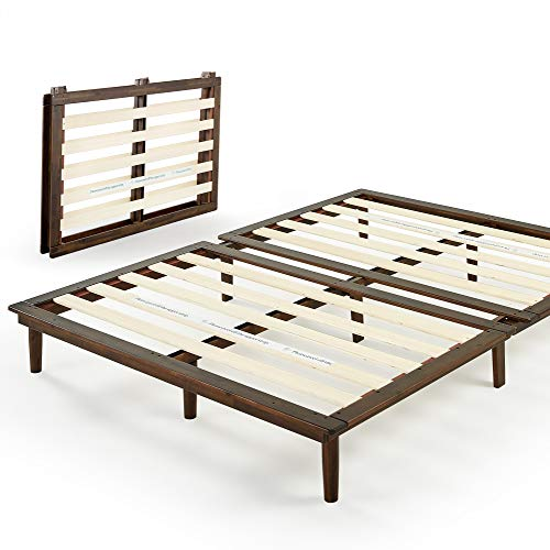 ZINUS Bobbie 10 Inch Wood Platform Bed Frame / Mattress Foundation with Sturdy Wood Slat Support / Solid Acacia Wood / No Box Spring Needed / Tool Free Assembly, Queen