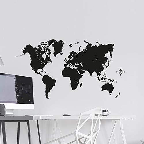 CREARREDA Wandaufkleber - Black Map
