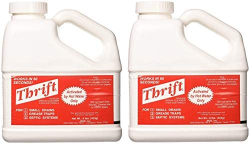 THRIFT T 600 Alkaline Based 6 lb Granular Drain Cleaner 2 Pack product image