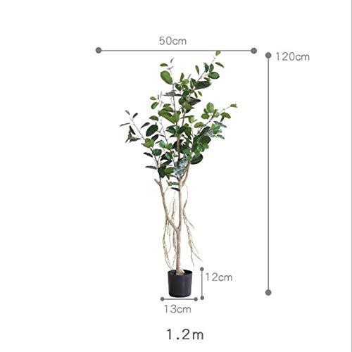 RUIZHISHUArtificial Plant Eucalyptus Nep Plant Binnen en buiten, Perfecte Imitatie Kunstboom Familie Tuin Kantoor Shop Decoratie,1.2M