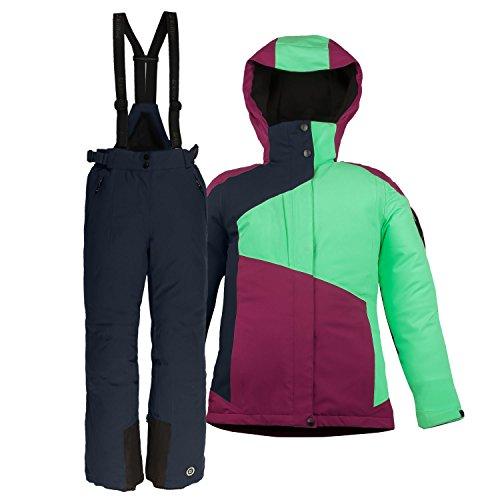 Killtec Kinder Skianzug Größe 140 Schneeanzug 2 TLG. Skijacke + Skihose - Peppermint dunkelnavy - Winddicht wasserdicht
