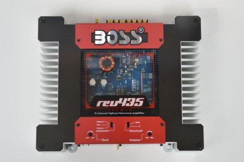 Boss REV435, 2 canales MOSFET de potencia del amplificador, 2 x 120 vatios RMS, 4 ohmios amplificador estéreo