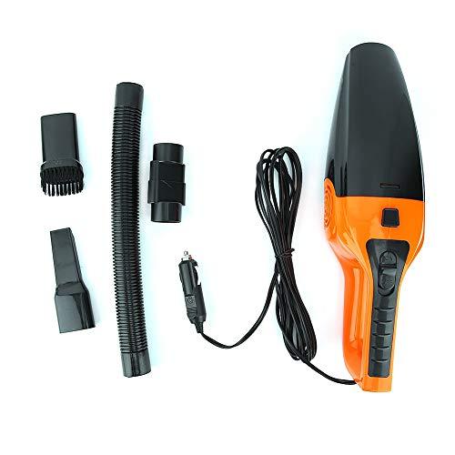 Aspirador versátil portátil de 120 W, Aspirador en seco y húmedo, Negro naranja para automóvil