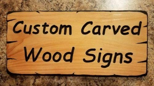 Diuangfoong Custom Carved Wood Signs Made to Order Your Text Cedar 12 X 6