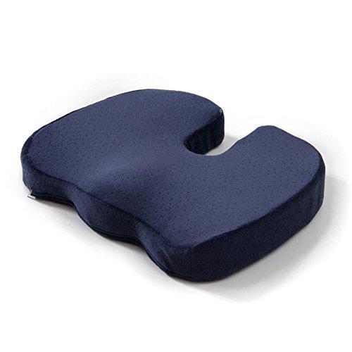 Memory Foam Kissen Für jedes Sitz-Ischias, Steißbein-Kissen-tragbarer ergonomischer Stuhl-Sitz-Auflage für Innenaußenhaus und Büro-Auto-Sitz-Zurücklehnsessel-Rollstuhl, Treasure Blue, 35 * 45 * 6