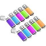 32GB USB Flash Drive 10 Pack Easy-Storage Memory Stick K&ZZ Thumb Drives Gig Stick USB2.0 Pen Drive for Fold Digital Data Storage, Zip Drive, Jump Drive, Flash Stick, Mixed Colors