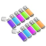 2GB USB Flash Drive 10 Pack Easy-Storage Memory Stick K&ZZ Thumb Drives Gig Stick USB2.0 Pen Drive for Fold Digital Data Storage, Zip Drive, Jump Drive, Flash Stick, Mixed Colors