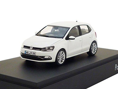 Volkswagen - Coche en Miniatura 6C1099300C9A, Polo A05-GP 4 Puertas, Escala 1:43, Color Blanco Puro