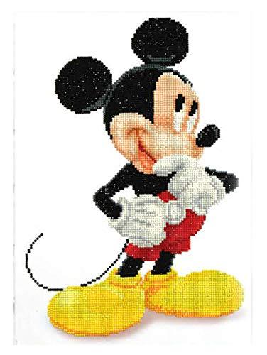 Pracht Creatives Hobby Diamond Dotz Disney Mickey Mouse-Cuadro Brillante diseñar uno Mismo, Aprox. 31 x 43 cm para Pintar con Diamantes, diseño Creativo de Manualidades, carbón