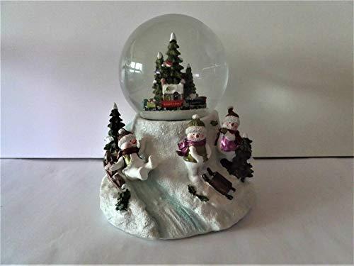 Spieluhr/Schneekugel mit automatischem Schneewirbel und Musik Weihnachten (6930)