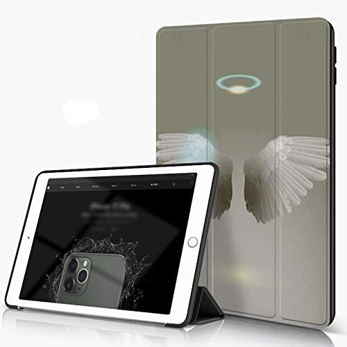 Carcasa para iPad 10.2 Inch, iPad Air 7.ª Generación ,White Wing Two Flight Label Heráldico Alas de ángel Emblema de plumas Espíritu mític,incluye soporte magnético y funda para dormir/despertar