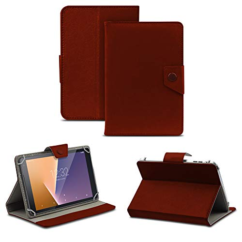 NAUC Tablet Tasche kompatibel für Vodafone Tab Prime 6/7 Schutzhülle Hülle Hülle Schutz Cover, Farben:Braun