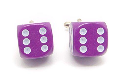 Jeff Jeffers Customs Violet DÉ Hommes Mariage Argent Bouton DE Manchette Cuff Links, avec Sac Cadeau