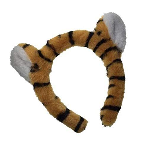 OSALADI Tigre Oreille Bandeau En Peluche Animal Oreille Bandeaux Peluche Zoo Animal Bandeaux pour La Fête D' anniversaire Cosplay Photo Prop