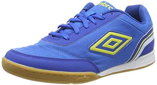 Umbro Futsal Street V Zapatillas de fútbol sala Hombre, Azul (Electric Blue/Blazing Yellow/Tw Royal /White FNU), 40.5 EU
