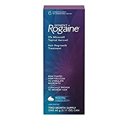 Buy Women's Rogaine 5% Minoxidil Foam for Hair Thinning and Loss, Topical Treatment for Women's Hair Regrowth