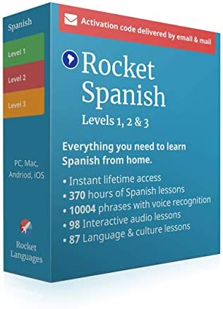 Learn Spanish with Rocket Spanish Level 1 2 3 Bundle 360 hours of Online Lessons to Speak and product image