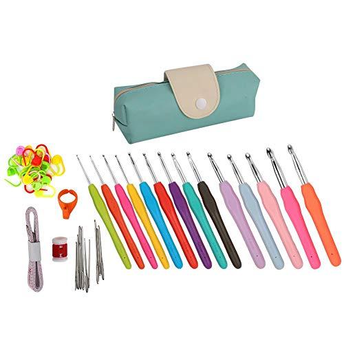 Accesorios de ganchillo duraderos, kit de ganchillo, juego de ganchos de ganchillo, manualidades para coser, tejer, tejer