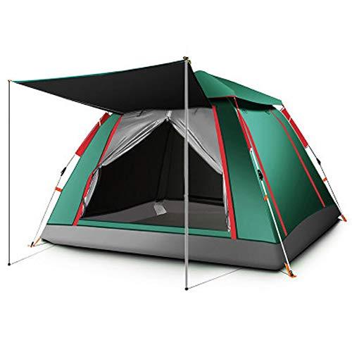 YYFZ Offenes Zelt mit automatischer Geschwindigkeit Strand Sonne Kinderzelt Außenzelt Campingzelt Für 2-4 Personen-Blue