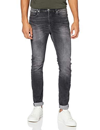 Calvin Klein Ckj 058 Slim Taper Pantaloni, Bb019/Dark Grey Pkt Zip, 38W / 32L Uomo