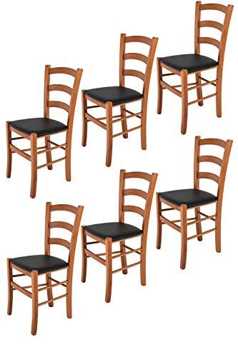 t m c s Tommychairs - Set 6 sillas Venice para Cocina y Comedor, Estructura en Madera de Haya Color