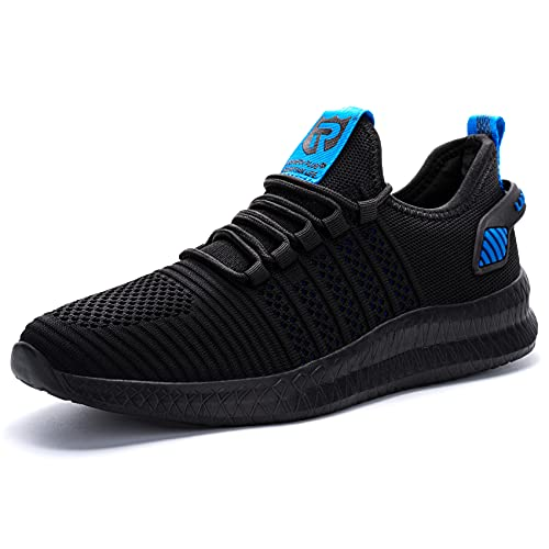 LARNMERN PLUS Sneakers Uomo Running Moda Scarpe Nero Blu 46