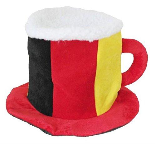 HAAC Fan Bier Hut Plüsch Fußballhut in Deutschlandsfarben Deutschland Fußball 2014