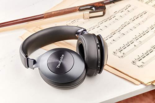 Technics EAH-F50B Premium Bluetooth Kopfhörer Over Ear (High Resolution Audio, kabellos, 35h Akku, Schnellladen) schwarz