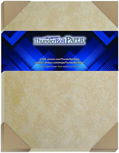 """100 Old Age Parchment 65lb Cover Paper Sheets 8 X 10 Inches Cardstock Weight Colored Sheets 8"""" X 10"""" (8X10 Inches) Photo
