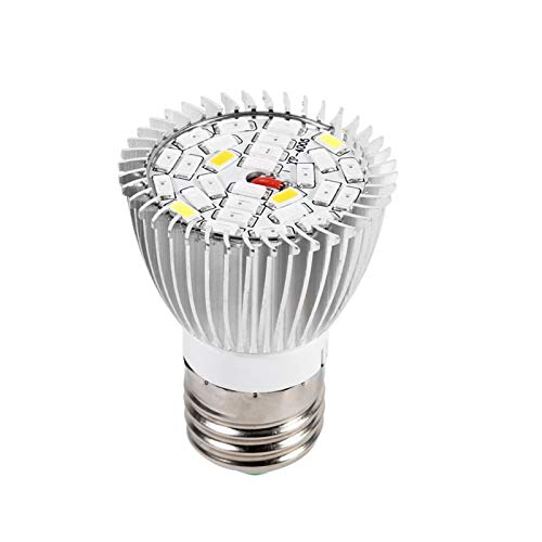 Lámpara de cultivo LED, Bombilla de cultivo LED E27 de espectro completo para plantas de interior orgánicas de invernadero hidropónico