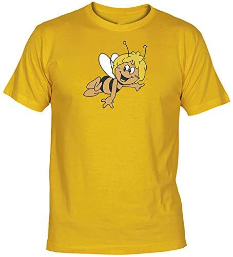 Camisetas EGB Camiseta Abeja Maya Adulto/niño ochenteras 80´s Retro (Amarillo, L)