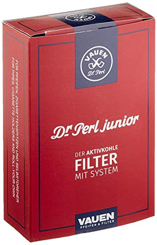 Dr. Perl Filter Junior Aktivkohlefilter groß-9 mm-Jubox 100er-Vauen, Kohlenstoff, Rot, 100 Stück (1er Pack)
