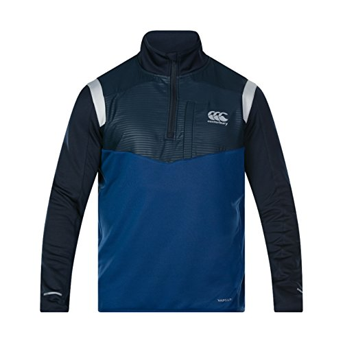 Canterbury of New Zealand Vaposhield 1/4 Zip Poly Knit Haut Homme, Estate Blue, XS