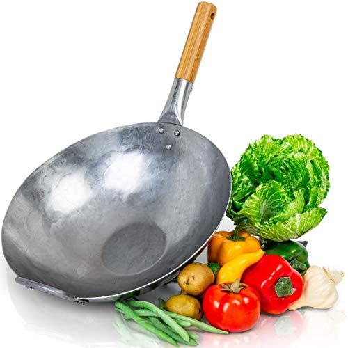 14 carbon steel flat bottom wok - 7