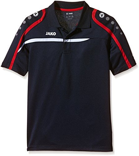 JAKO Kinder Polo Shirt Performance Polos, Marine/Weiß/Rot, 164