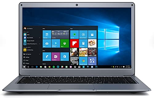 Jumper Laptop 13.3 inch 8GB RAM 128GB ROM Quad Core Celeron, Windows 10 Thin and Light Laptop, Full HD 1080P Display, Support 128GB TF Cardand 1TB SSD Expansion