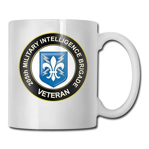 N\A Veteran 205th Military Intelligence Brigade Taza de café Personalizada Taza de té Regalos Blancos T Regalos del día de la Madre, Regalos del día del Padre, Regalos para el Abuelo