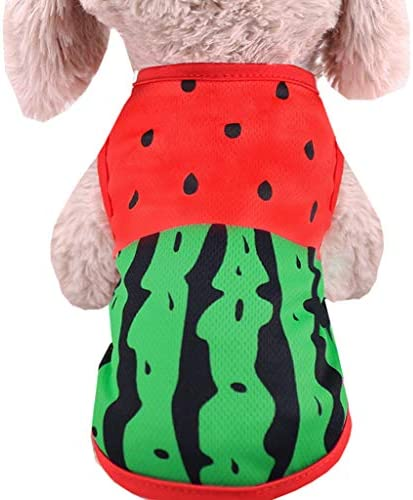Wakeu Dog Clothes for Small Dogs Girl Chihuahua Boy Yorkies Summer Fall Watermelon Crab Shirt product image