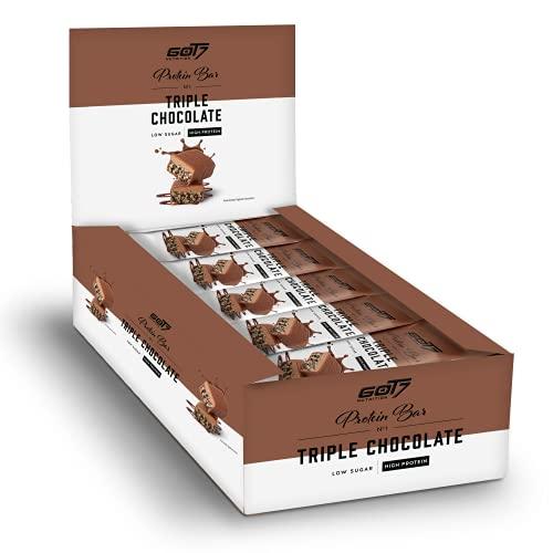 GOT7 TRIPLE CHOCOLATE BAR - Dreifach Schokolade, soft & crunchy, 36% Eiweiß - alles in einem Riegel! - 60g