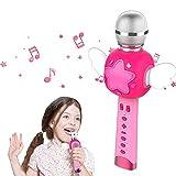 KOMVOX Karaoke Infantil Microfono Juguete Niña, Microfono Karaoke Bluetooth Niños 3 4 5 años, Regalo Juguetes Niña 3 4 5 6 Años