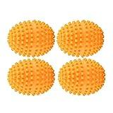 KSTE Secador de Bolas 4pcs / Set Orange Reutilizables Bolas del secador, Lavado de lavandería Secado de la Bola for el hogar Ropa de Limpieza.
