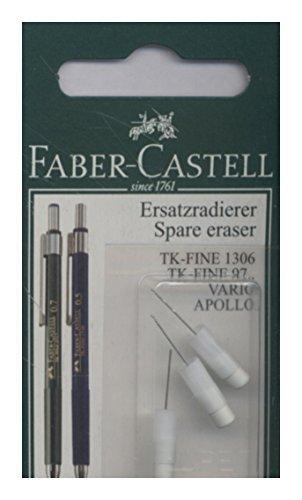Faber-Castell 131594 - Ersatzradierer für Druckbleistift TK-Fine, 3 Stück