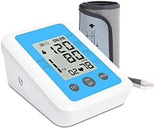DZLXY Superior del Brazo Monitor de presión Arterial con Salida de Voz con Gran Pantalla con Memoria automática medirse la tensión Arterial y Pulso del Ritmo cardíaco,Azul