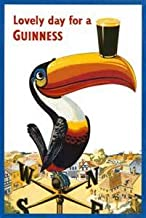 Beyond The Wall Toucan Lovely Day for a Guinness Vintage Beer Alcohol Advertising Art Poster Print (11X14 UNFRAMED Print)