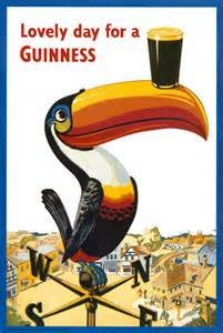 Toucan-Lovely Day for a Guinness-Bier Werbung für Alkohol Poster (11 x 14