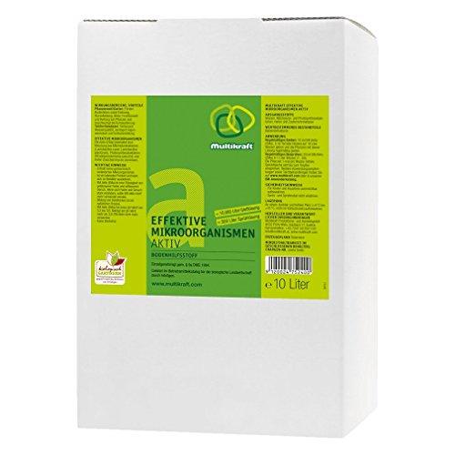 Eficaz microorganismos Active (EM-Activ), plástico para ayuda al suelo, fertilizante – caja de 10 litros