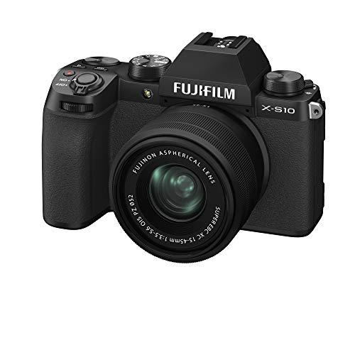 Fujifilm X-S10 Systeemcamera inclusief XC15-45mmF3.5-5.6 OIS PZ-lens, zwart