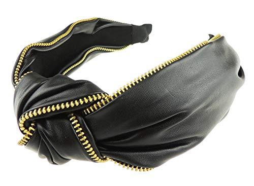 Glamour Girlz - Bandeau - Femme noir Black Gold Zipper taille unique