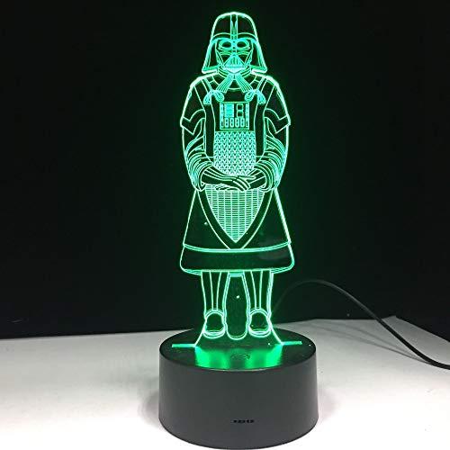 Kreatives Geschenk Tod Darth Vader Nachtlicht buntes Tabellenumgebungshauptdekorationsschlafzimmer-Nachtlicht